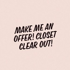 -Closet Clear Out-